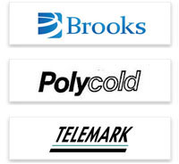 Polycold and Telemark logos